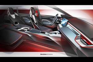 Concept Skoda Vision RS, l'habitacle