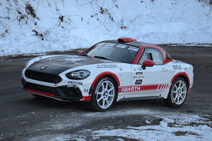 La Fiat Abarth 124 Rally en piste