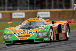 Goodwood, Rossi teste la Mazda 787B