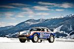 Walter Röhrl en piste avec la Porsche 911 Carrera Paris-Dakar
