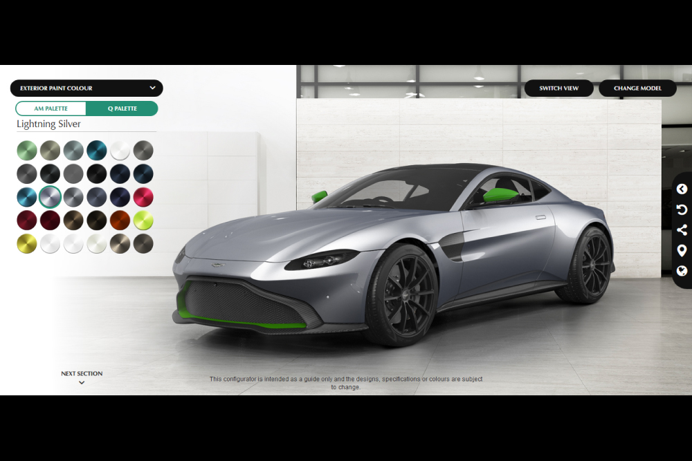 configurez votre nouvelle aston martin vantage actualit automobile motorlegend. Black Bedroom Furniture Sets. Home Design Ideas