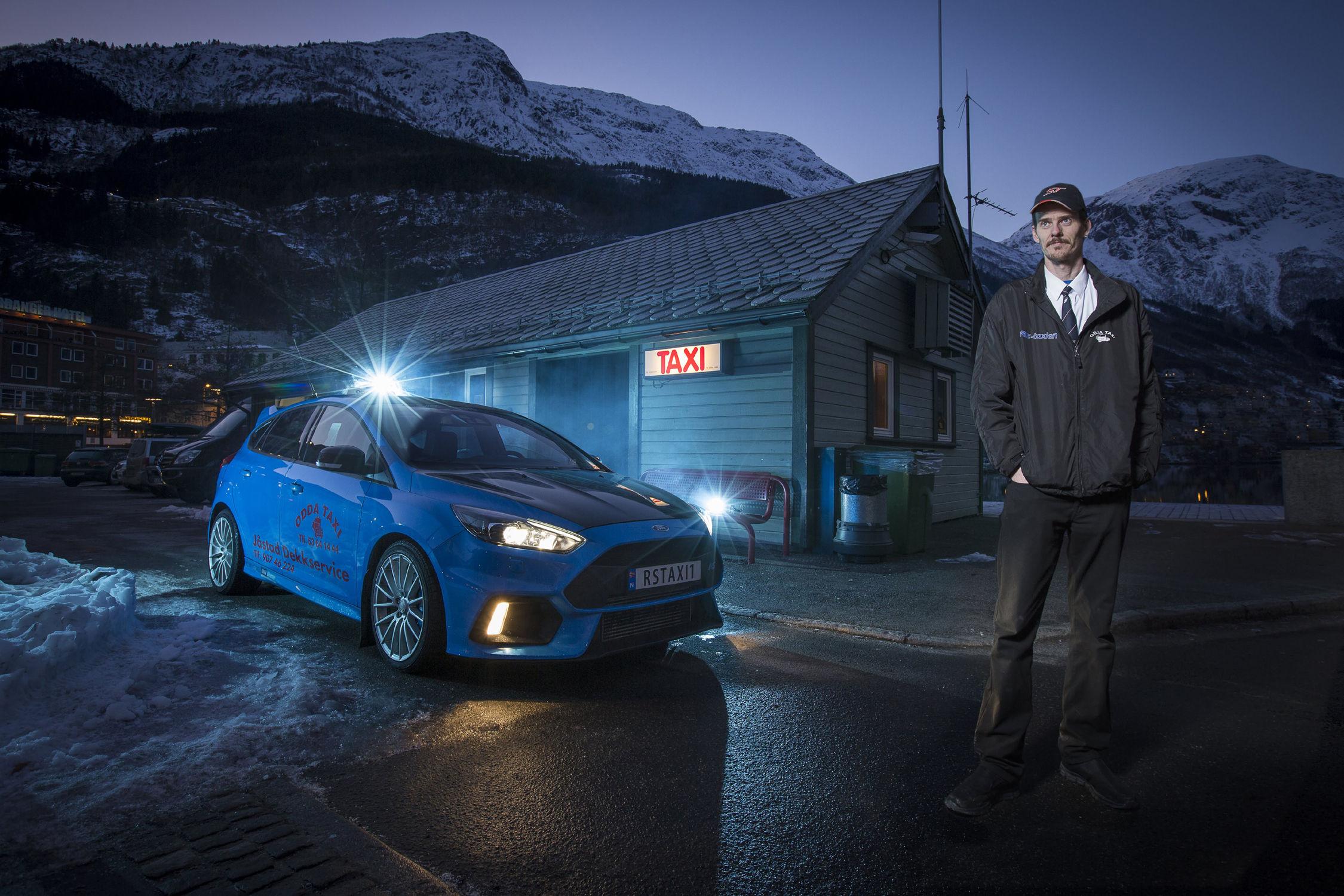 Un taxi très spécial en Norvège — Ford Focus RS