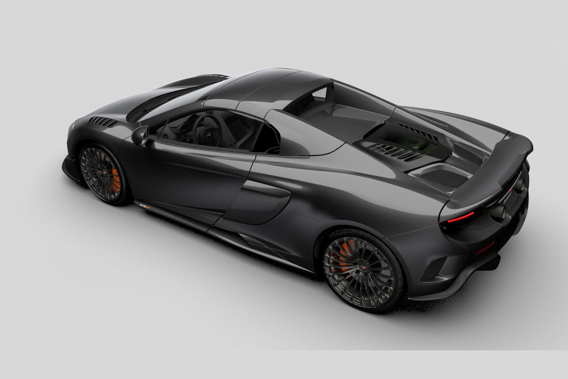 mclaren 675lt spider mso carbon series 2016 dark cars wallpapers. Black Bedroom Furniture Sets. Home Design Ideas