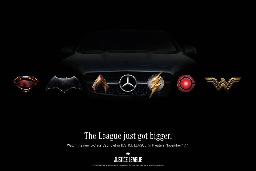 mercedes-benz partenaire de justice league - actualité automobile