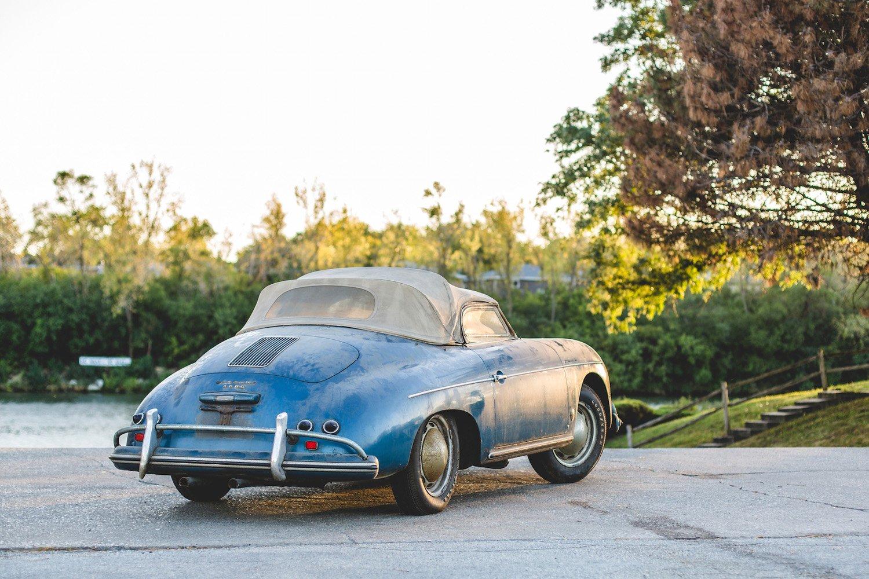 une porsche 356a speedster barn find aux ench res actualit automobile motorlegend. Black Bedroom Furniture Sets. Home Design Ideas
