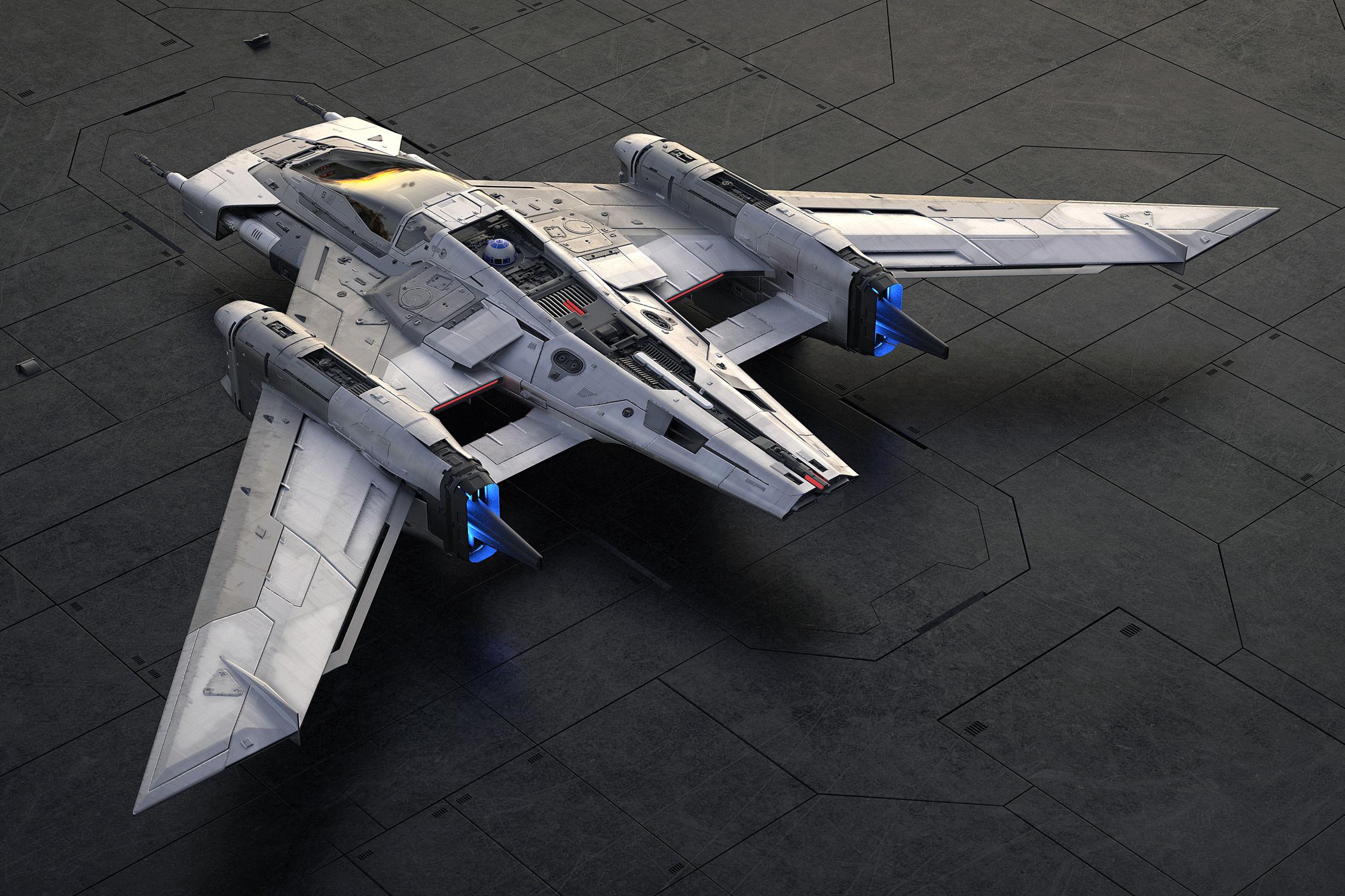 Porsche s'invite dans l'univers Star Wars avec un vaisseau spatial
