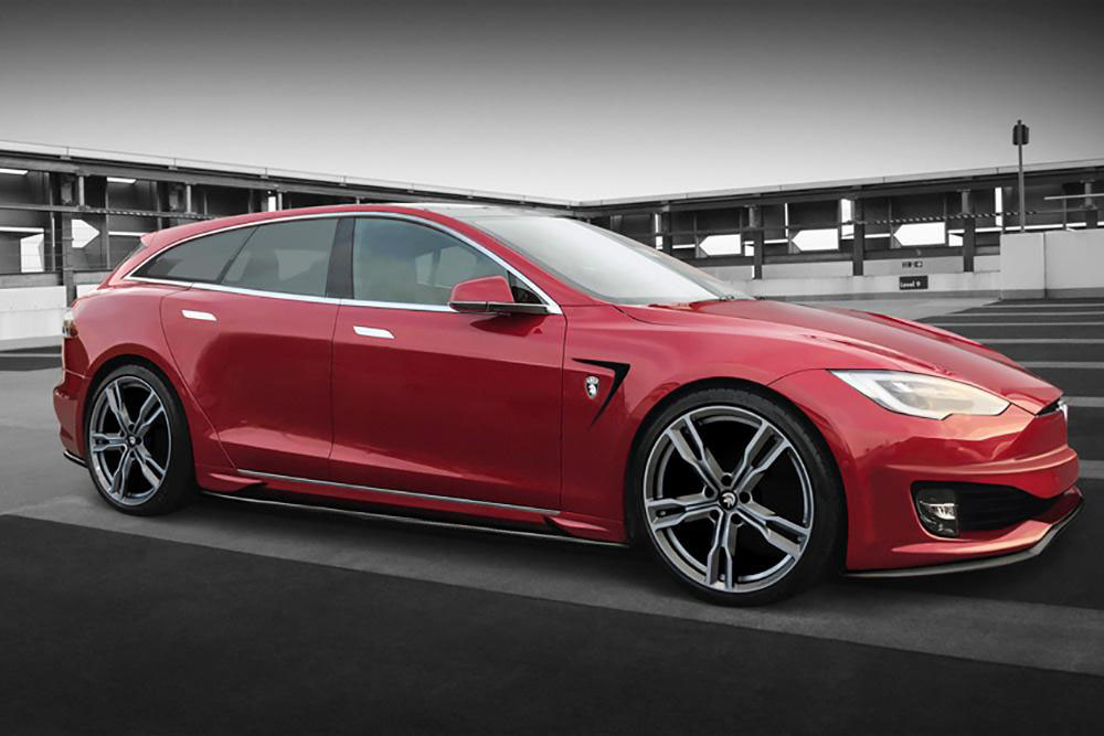 Tesla Model S Shooting Brake Et Cabrio Par Ares Design