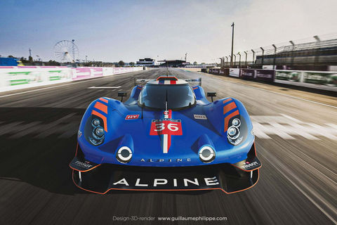 Design : Alpine A480 LMDh par Guillaume Philippe