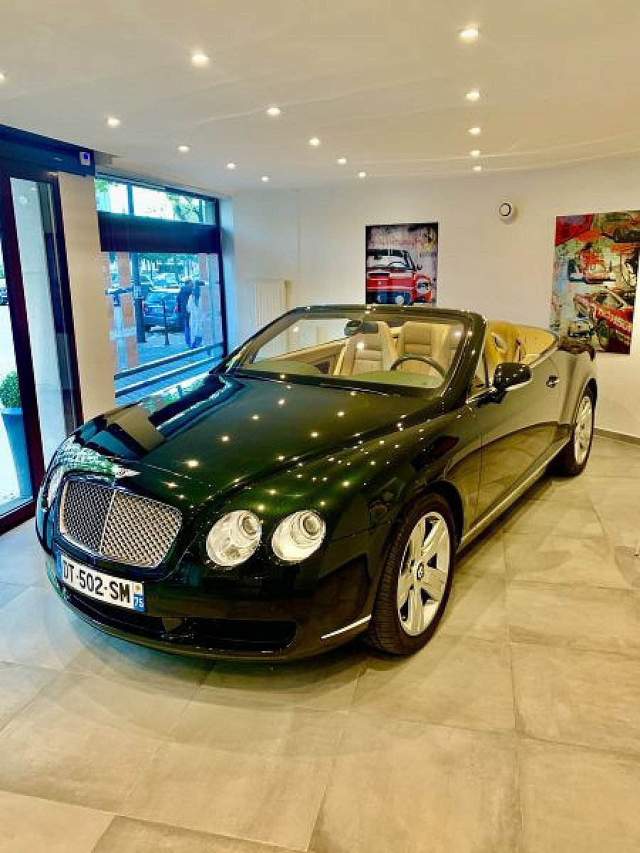 BENTLEY CONTINENTAL GTC I W12 cabriolet Vert occasion - 74 900 €, 45 200 km