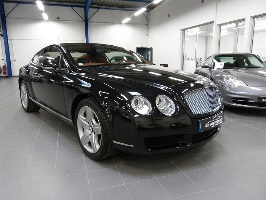 bentley continental gt i w12 coup noir occasion 60 990 52 354 km vente de voiture d. Black Bedroom Furniture Sets. Home Design Ideas
