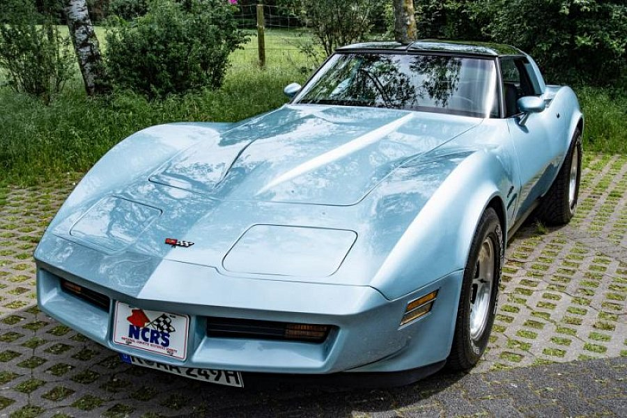 CHEVROLET CORVETTE C3 5.7 Small Block V8 (350ci) coupé Bleu clair occasion - 29 900 €, 63 350 km