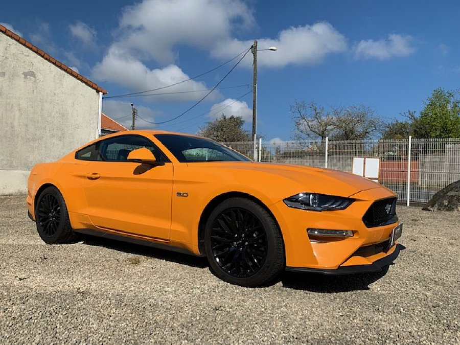 FORD MUSTANG VI (2015) GT 450 ch v8 coupé Orange occasion - 59 950 €, 300 km