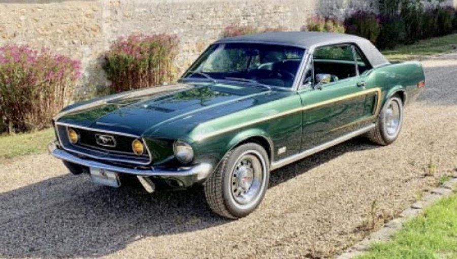 FORD MUSTANG I (1964-73) 4.9L V8 (302 ci) GT DELUXE coupé Vert occasion - 38 000 €, 80 000 km