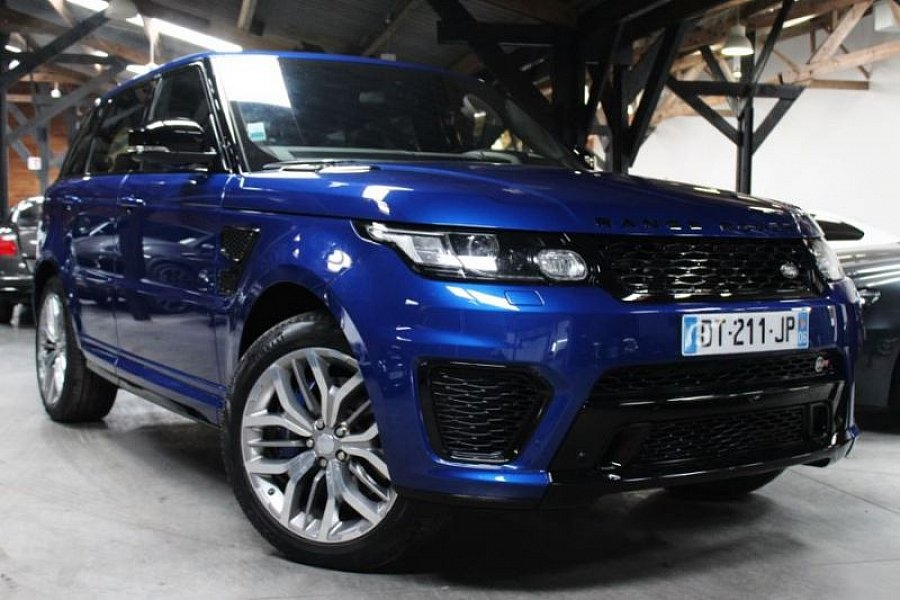 land rover range rover sport ii 4x4 bleu occasion 109 800 13 500 km vente de voiture d. Black Bedroom Furniture Sets. Home Design Ideas
