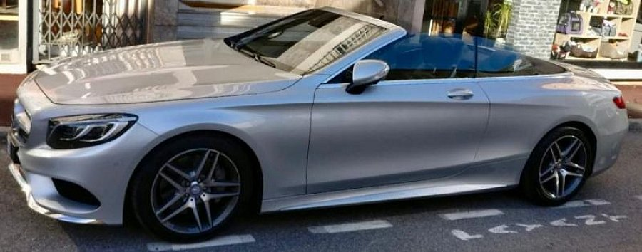 MERCEDES CLASSE S Cabriolet A217 500 AMG cabriolet Gris clair occasion - 110 000 €, 19 500 km