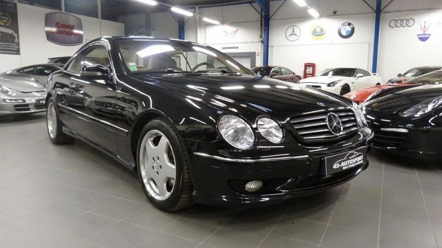mercedes classe s w220 55 amg coup noir occasion 15 990 112 084 km vente de voiture d. Black Bedroom Furniture Sets. Home Design Ideas