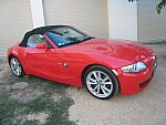 BMW Z4 E85 Roadster 3.0si 265ch pack luxe cabriolet Rouge
