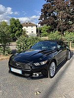 FORD MUSTANG VI (2015) EcoBoost 2.3 317 ch Premium cabriolet Noir