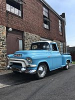 GMC pick-up Bleu