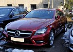 MERCEDES CLASSE CLS Shooting Brake X218 350 CDI BlueEfficiency 4-Matic AMG-Pack break Bordeaux
