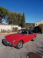 MG B Mk3 cabriolet Rouge occasion