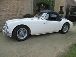 MG A cabriolet Blanc occasion